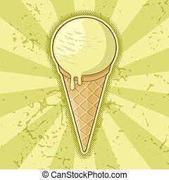 uno, palla, cono, gelato