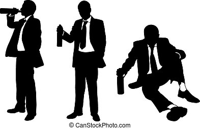 uomini, ubriaco
