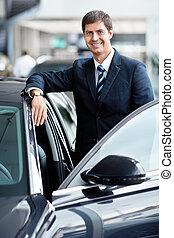 uomo affari, automobili