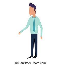 uomo affari, esecutivo, avatar