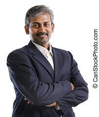 uomo affari, indiano