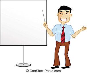 uomo affari, presentazione