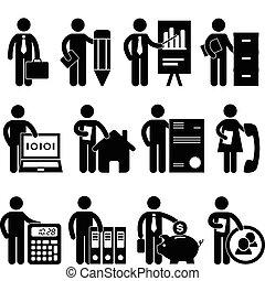 uomo affari, programmatore, lavoro, avvocato