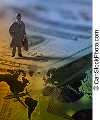 uomo affari, viaggiatore