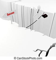 uomo, concetto, affari, successo, 3d