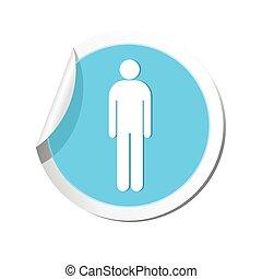 uomo, icon., illustrazione, vettore