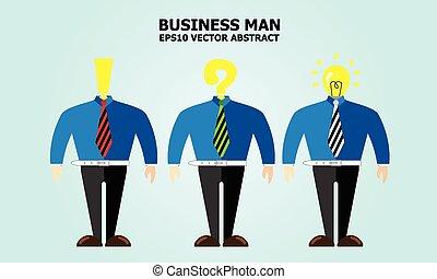 uomo, idea, affari
