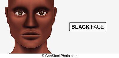 uomo, nero, dall'aspetto, modello, macchina fotografica.