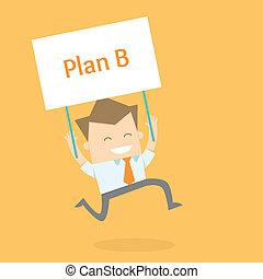uomo nuovo, affari, proactive, strategia