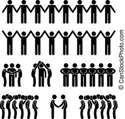uomo, unità, unito, comunità, persone
