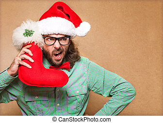 Babbo Natale Uomo Bello.Bello Babbo Natale Uomo Calzoncini Canstock