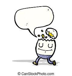 uovo, cartone animato