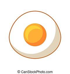 uovo fritto, isolato, icona