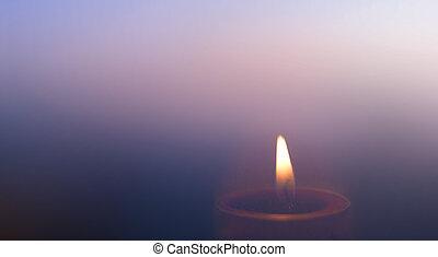 urente, religione, molti, poco profondo, campo, profondità, candele, mondo, giorno, concept: