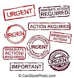 urgente, francobolli, set