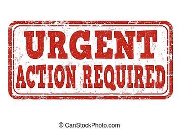 urgente, francobollo, azione, richiesto