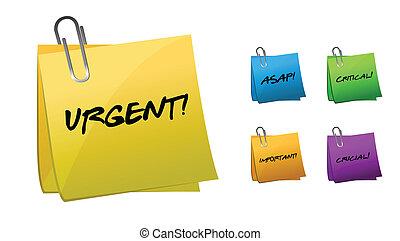 urgente, note, messaggi, posto-esso