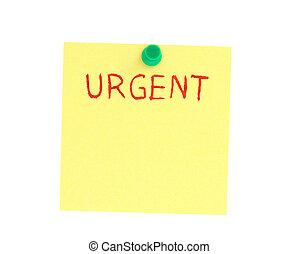 urgente, posto-esso