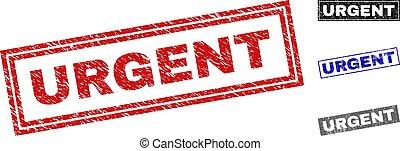 urgente, rettangolo, grunge, francobolli, graffiato