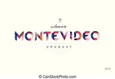 uruguay, benvenuto, tipografia, disegno, scheda, lettera, montevideo, icona