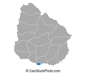 uruguay, mappa, montevideo