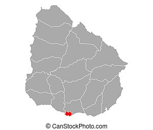uruguay, montevideo, mappa