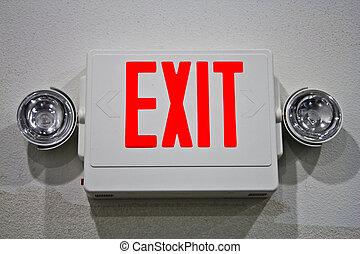uscita, segnale emergenza