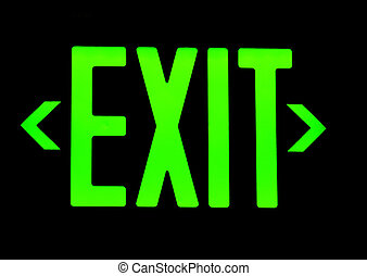 uscita, segno neon