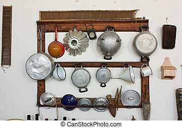 utensili, cottura, vecchio