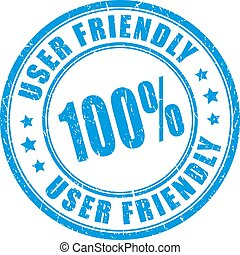 utente, francobollo, vettore, amichevole