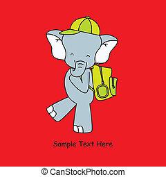 va, scuola, elefante