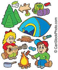 vacanza, campeggio, collezione