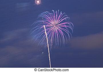 vacanza, fireworks, colorito, fondo