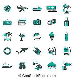 vacanza, ricreazione, signs.
