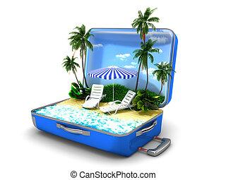 vacanza spiaggia, pacchetto