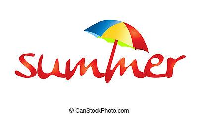 vacanze estate, -, ombra, sole