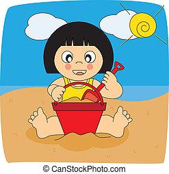 vacanze, illustrazione