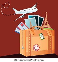 vacanze, turismo, aereo, foto, viaggiare, valigia, biglietti