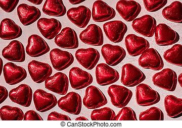 valentine, cioccolato, giorno, caramella, dolci, cuore
