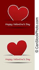 valentine, cuore, giorno, vettore