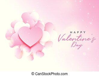 valentine, disegno, fondo, rosa, giorno, morbido