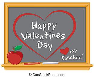 valentines, amore, insegnante, mio, felice