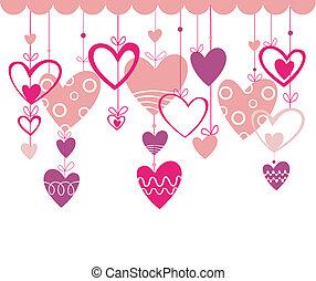 valentines, fondo, sentire, giorno