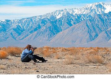 valle morte, fotografare, stati uniti, california