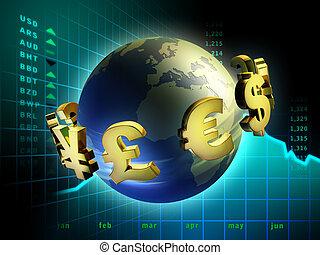 valuta, mondo