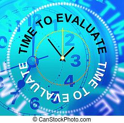 valutazione, mezzi, valutare, valutare, tempo, valutazione