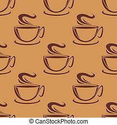 vaporizzazione, modello, tazze caffè, seamless
