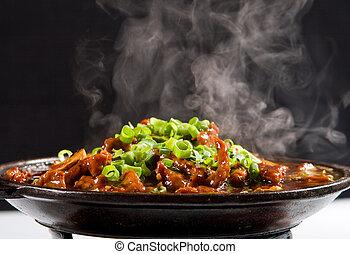 vaporizzazione, spezzatino, carne