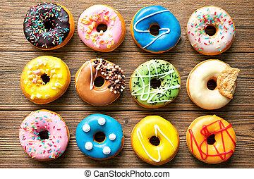 vario, colorito, donuts