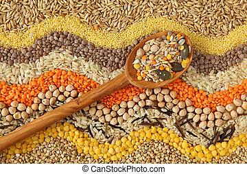 vario, grani, semi